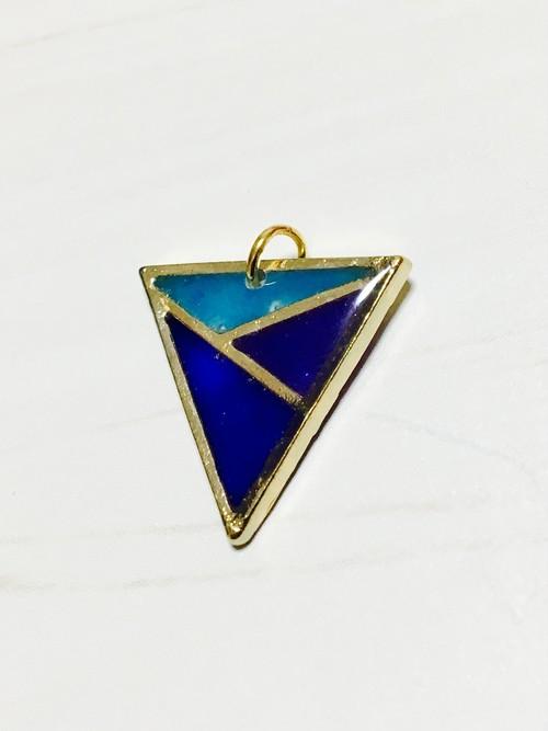 逆三角/青紫水色
