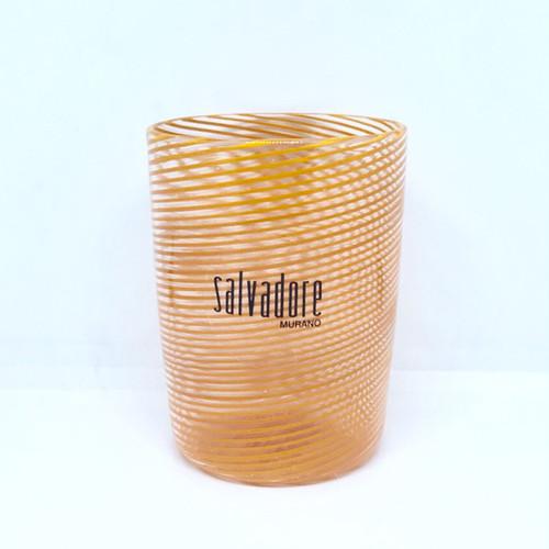 Item048 【再入荷】ヴェネチアングラス フィリグラーナグラス ショート オレンジ