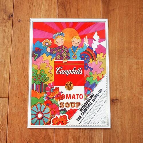 【アメリカ】 キャンベル トマトスープ ミニポスター B4サイズ