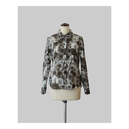 Bloom Print Shirt Black