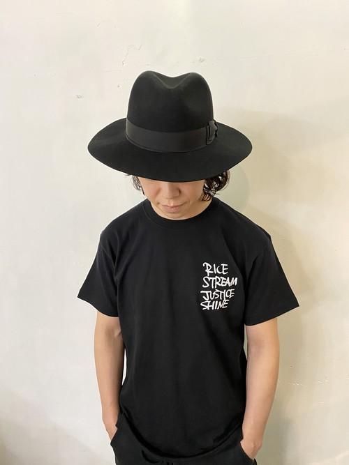 R.S.J.S. T-shirts / Black...