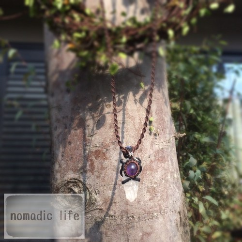 No.29//Crystal-Amethyst necklace from Egypt-India【made-to-order】