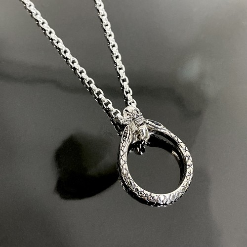 HORSESHOE:SNAKE NECKLACE / スネークホースシューネックレス