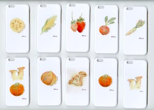 iphoneカバー iphoneケース 野菜くらぶ。選べる2個セット iphone6s