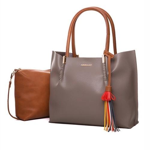 Shoulder Bag Composite Bag Handbag Tassel Soft Versatile ショルダーバッグ ハンドバッグ タッセル (AG99-0237829)