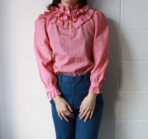 Yves Saint Laurent frill blouse
