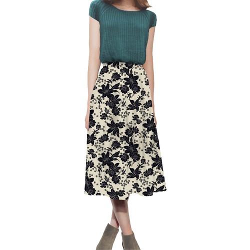 花柄 スカート 0001-D