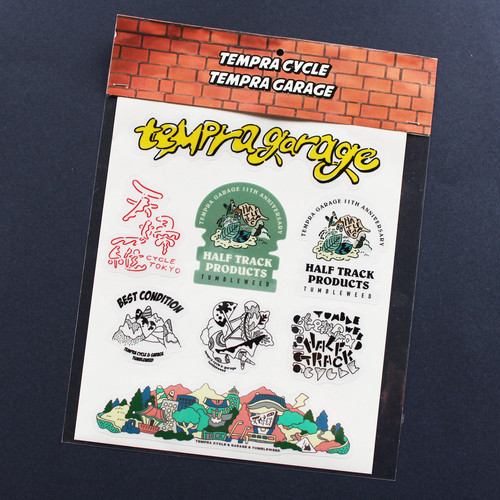 【TUMBLEWEED】tempra cycle × HALF TRACK PRODUCTS 10th anniversary sticker