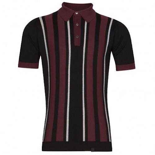 John Smedley × Pretty Green Striped S/S Shirt Black XS