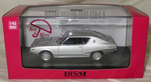 アオシマ DISM 1/43 GC111 ケンメリ スカイライン HT 2000GTX-E/S シルバー