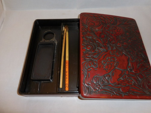 漆硯箱 Urushi lacquer a case for an ink stone (pens)