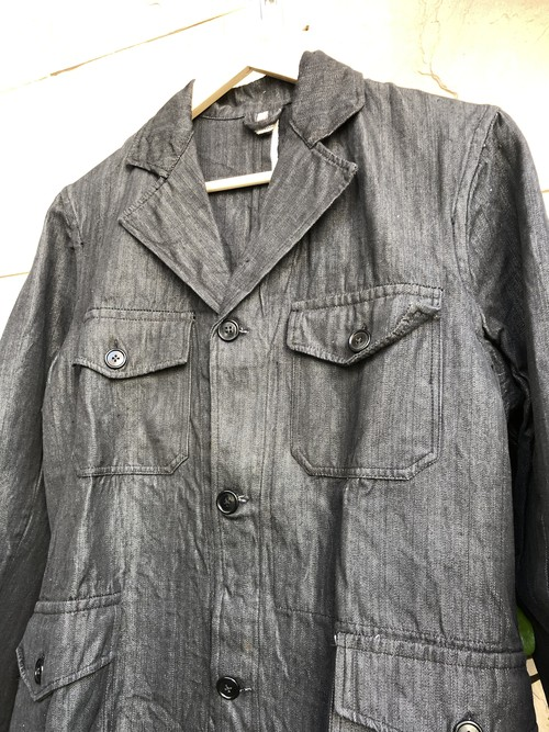 1940s belguim herringbone fabric work jacket
