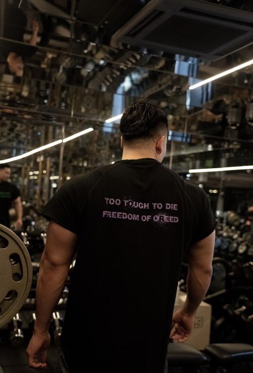 Cutoff Raglan T-Shirts (BK/GR/PL)の商品画像5