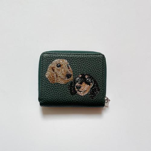 二つ折り財布〜フォトデコカスタマイズ 2匹入れ