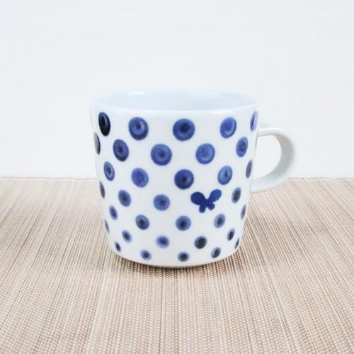 砥部焼 マグカップ (ちょうドット)