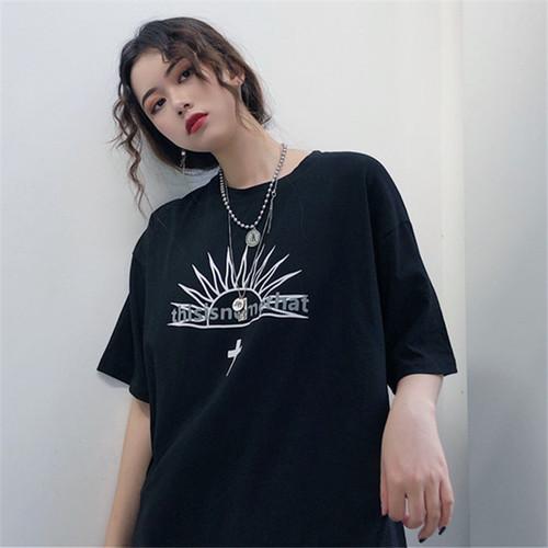 【トップス】スウィートキャンパス森ガールプリント海外トレンド半袖Tシャツ