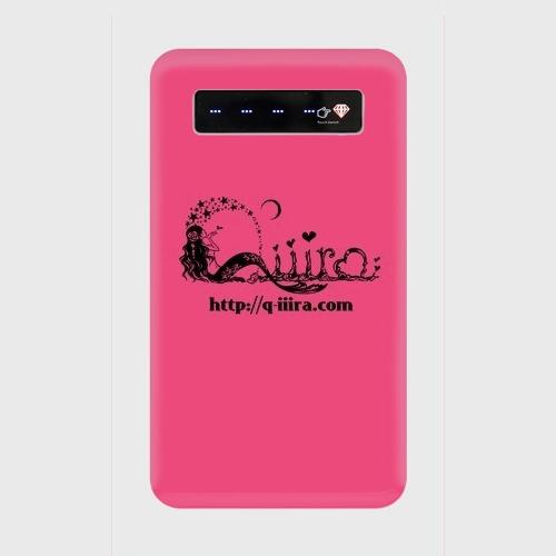 モバイルバッテリーQ'iiiraロゴ <ピンク>