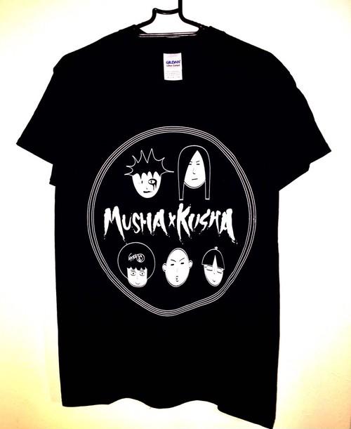 MUSHAxKUSHA T-shirt 2016 「似顔絵」 黒×白