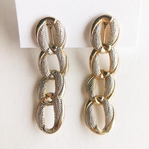 chain dangle earring[e-1328] ヴィンテージイヤリング