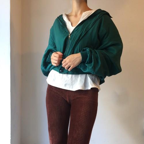 vintage silk blouson / green