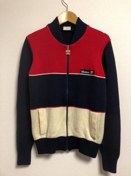 80's ellesse ski knit jacket
