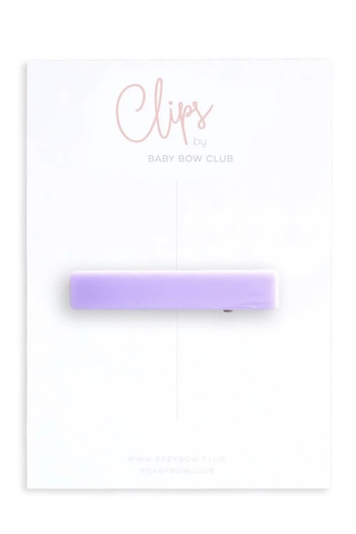 BABY BOW CLUB Bar Clip // Lavender