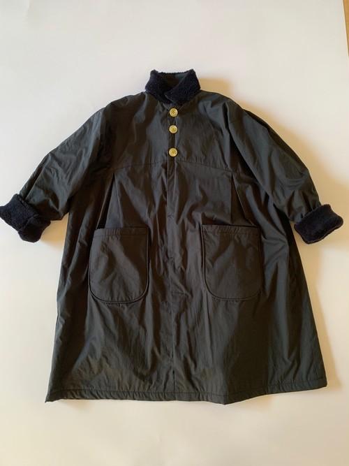 サイズM col.black  boa long coat