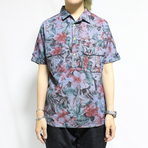 Short Sleeve Dolman Shirt -bluegray < LSD-14SS-S003A  >