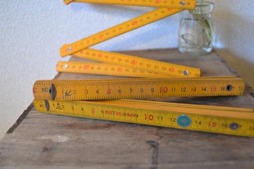 木製折りたたみ定規/折れ尺