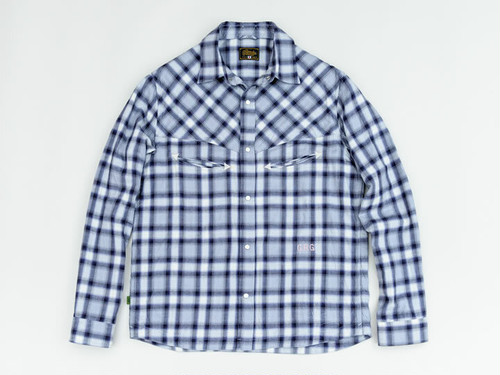 SHADOW CHECK SHIRTS (GRAY/PURPLE) / GERUGA
