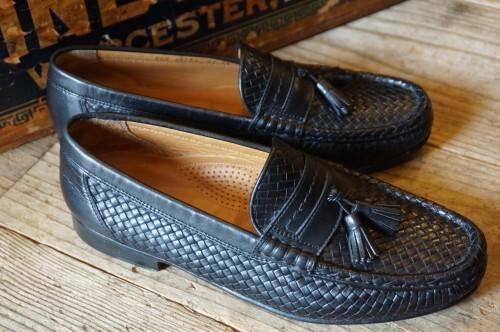 "Allen Edmonds woven leather tassel Slip-on ""RIMINI"""