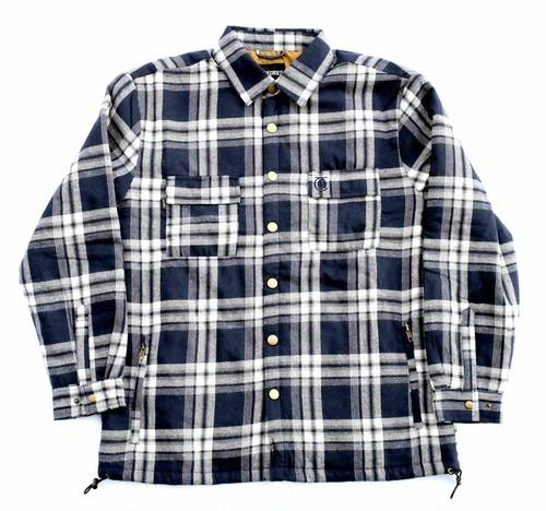 THEORIES LANTAN FLANNEL JACKET WHITE×NAVY セオリーズ ネルシャツジャケット