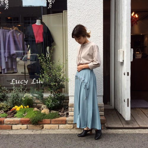 ANNA KERRY/編みあげデザインスカート
