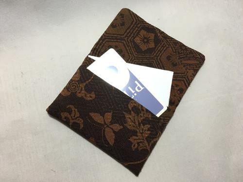 使用浅更紗小紋着物から名刺、カード.パスケース