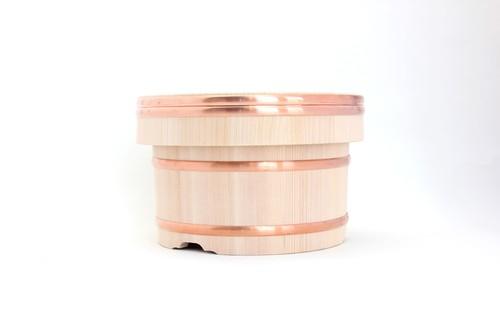 岡田製樽のおひつ・定番(銅タガ 2合)