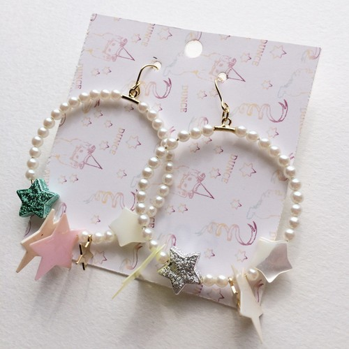 【旧作セール¥300均一】Twinkle little stars earrings