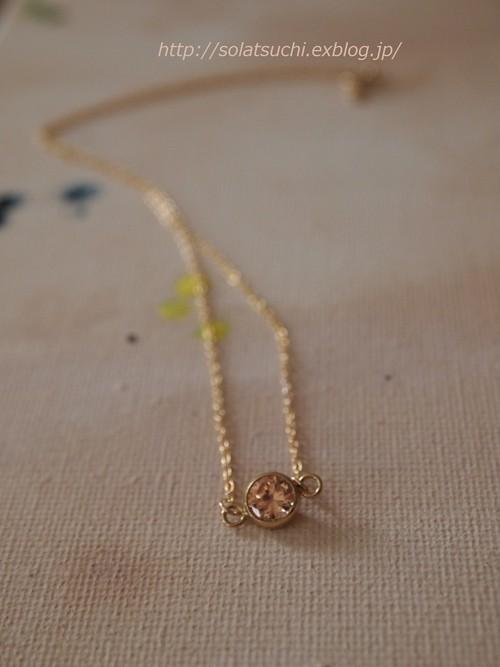 キュービックジルコニアの一粒ネックレス