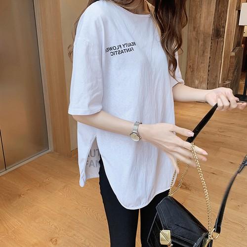 【トップス】絶対流行カジュアル半袖ラウンドネックTシャツ22190249
