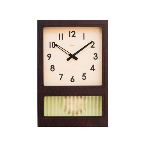 FROSTED PENDULUM CLOCK【DARK BROWN】