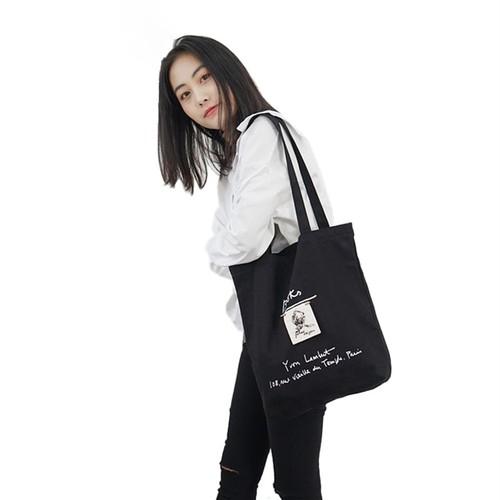 Embroidery Canvas Handbag Tote Travel Shoulder Bag Shopping Bag Casual カジュアル 刺繍 ショルダーバッグ トートバッグ ハンドバッグ (HMS99-3994387)