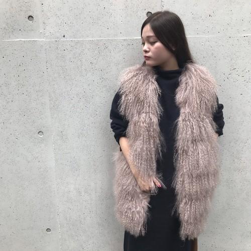 ANNAKERRY/ファー×ニットベスト
