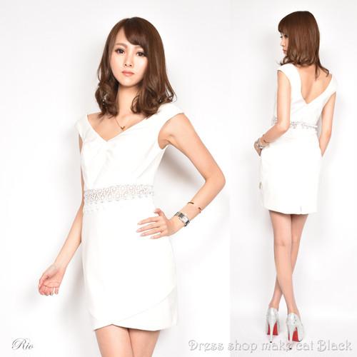 (Sサイズ) ミニドレス  ビジュー刺繍 ドレス パーティー フレアミニキャバドレス 二次会 0273