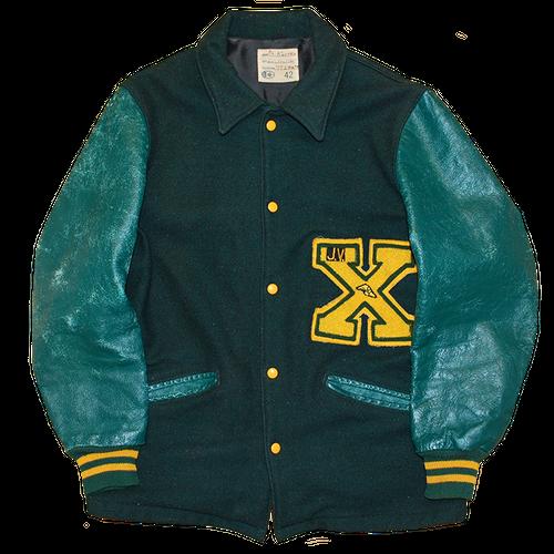"""""""X"""" Vintage Long Stadium Jacket Used"""