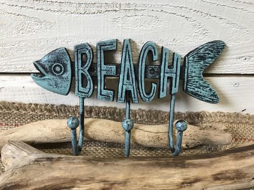 キャストアイアン フック  FISH BEACH