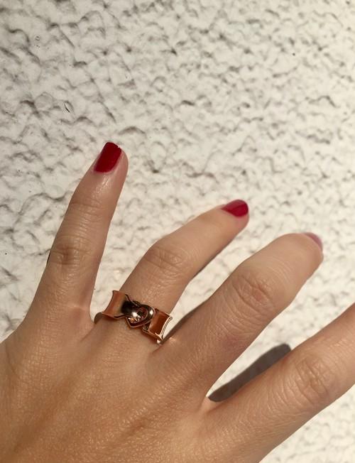 ribbon LOVERING. #0130 pinkgold りぼんラブリング/ピンクゴールド