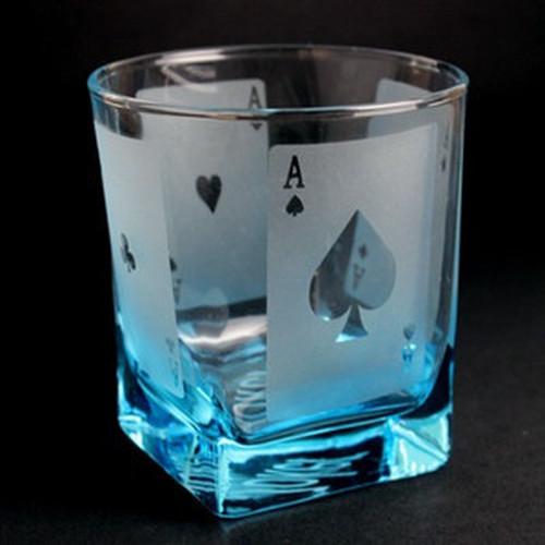 ロックグラス(トランプ柄)