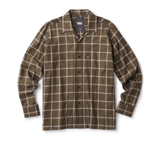 FTC (エフティーシー) / SHADOW PLAID SHIRT -OLIVE-