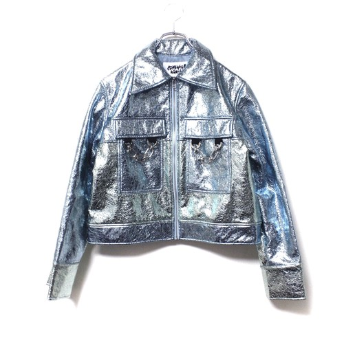 【SOMEWHERE NOWHERE】METALLIC JACKET blue