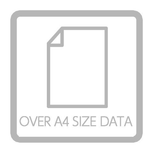 イラストをA4サイズ以上のデータに変更するオプション