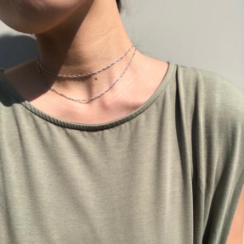 Twist chain necklace (2 color)